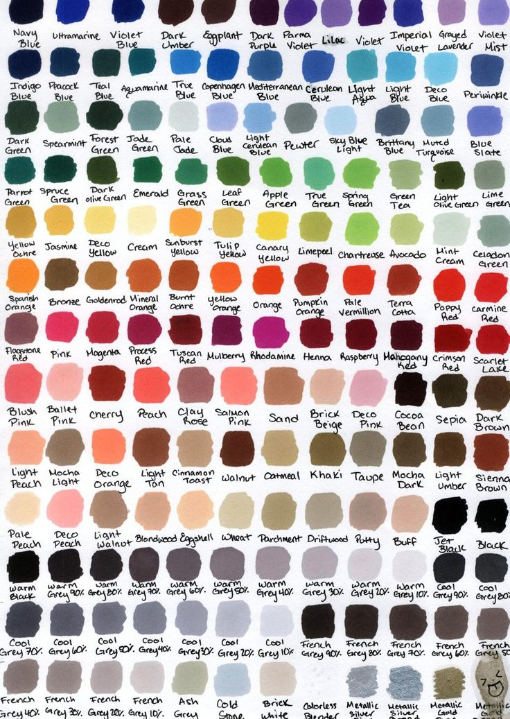 I love prismacolor markers, girl has a huge selection of colors. Prismacolor Color Chart by KatWynn47.deviantart.com