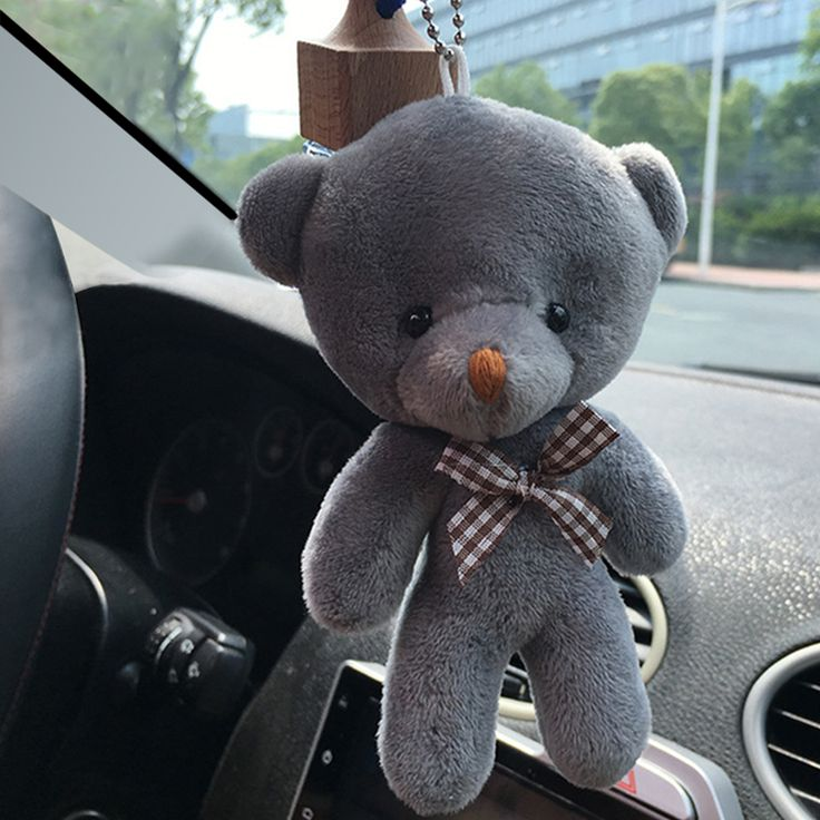 Car-styling12CM Mini Boneka Beruang Mewah Boneka Mainan Boneka Liontin Aksesori Ornamen Pernikahan Hadiah Keychain Mainan Mewah Untuk Mobil