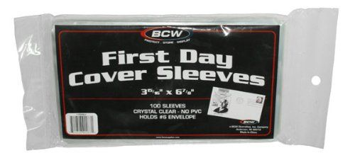 Pack of 100 BCW First Day Cover Sleeves - 3 15/16 X 6 7/8... https://www.amazon.com/dp/B004E90GKC/ref=cm_sw_r_pi_dp_x_InmwybEC8HG1D