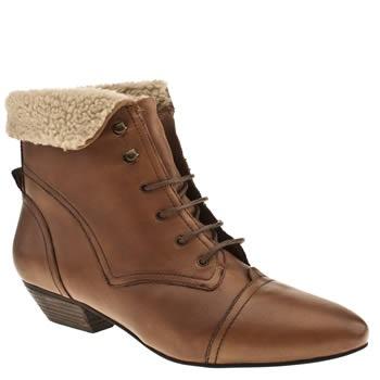 Women's Tan Schuh Kyra Fur Ankle Boot at Schuh