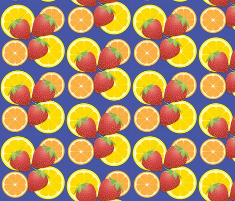 Fruti tutti - strawberries, oranges and lemon illustrations - fruit fabric by susie-lotta_designs on Spoonflower - custom fabric