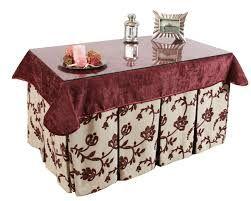 Resultado de imagen de como hacer falda mesa rectangular