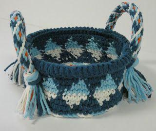 Woolish: Tapestry Mandje met Kumihimo Hengsels