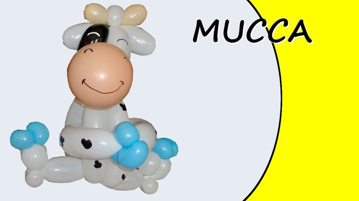 Video tutorial on how to make a cow with balloons twisting #cow #farm