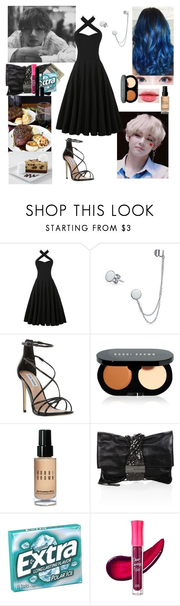 """Dinner date with Taehyung"" by mimiisabooknerd ❤ liked on Polyvore featuring Misa, Bling Jewelry, Steve Madden, Bobbi Brown Cosmetics, Jimmy Choo, Jack Spade, Etude House and Gucci"