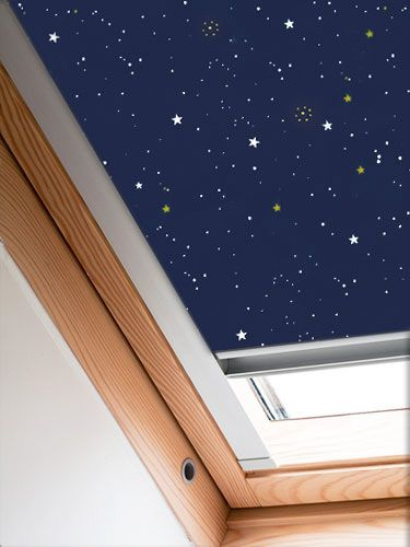 Expressions starry night blackout blind for velux for How to clean velux skylights