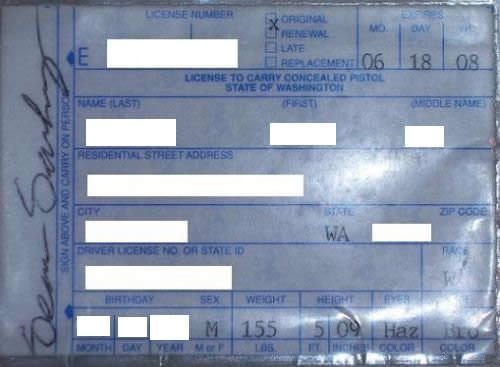 Washington Concealed Carry Permit Information, Washington Concealed Weapons Permit, Washington Concealed Carry Reciprocity