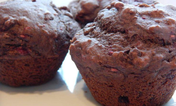 Double Chocolate Raspberry Muffins | Anita's Organic Mill