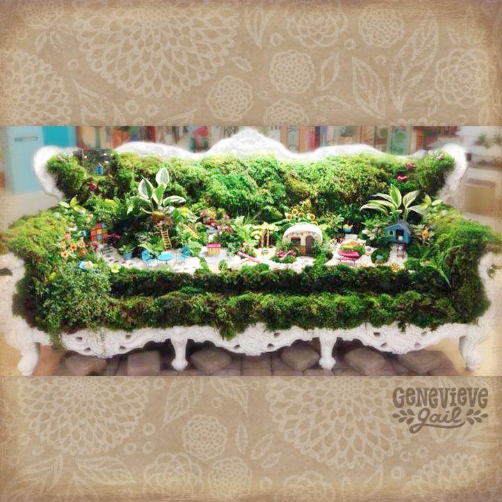 Mini Garden Moss Couch Gypsy Garden Miniature Garden