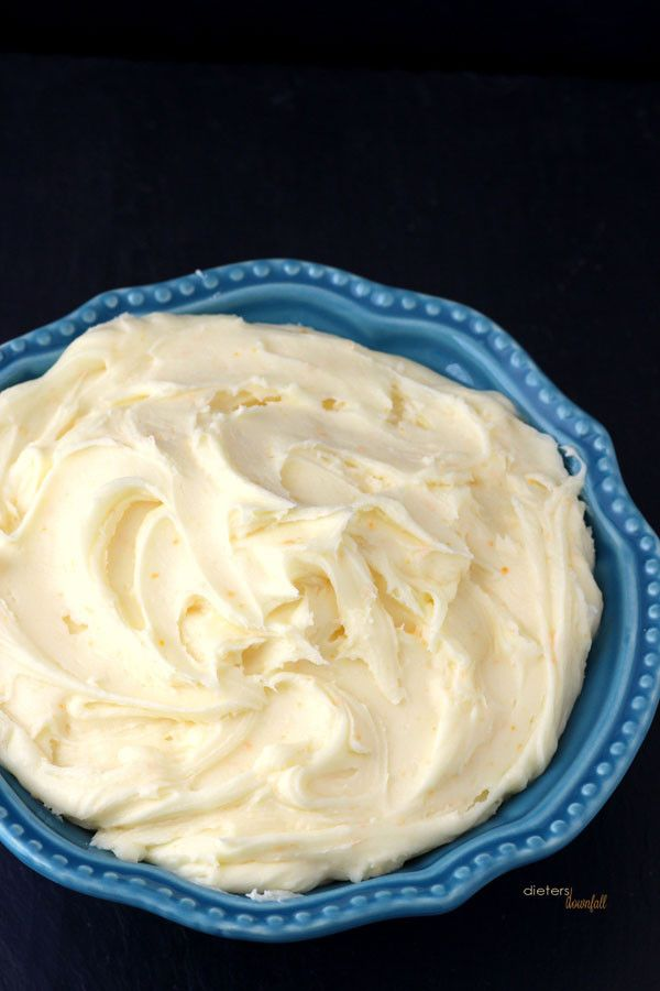 Rich and Creamy - Orange Cream Cheese Frosting. from #dietersdownfall.com
