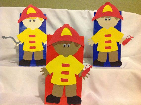 Fireman Birthday Goody Bags by DreamComeTrueParties on Etsy, $25.00