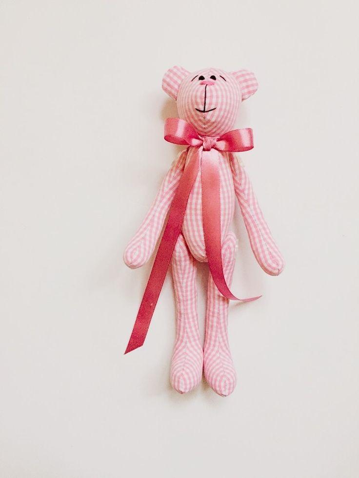 Розовый мишка тильда, ручная работа, teddy bears, tilda, handmade, pink bear