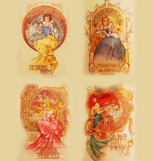 Art Deco Disney Princesses