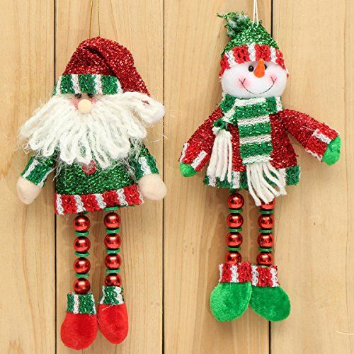 Bargain World Christmas Hanging Decoration Long Leg Snowman Santa Clau Home Decoration ** Visit the image link more details.