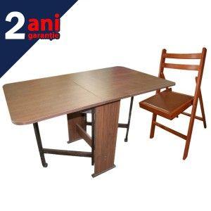 Set masa pliabila Practic 6 scaune este, dupa cum sugereaza si numele, un set de masa extrem de practic pentru ce poate acomoda in conditii confortabile maxim 6 persoane.