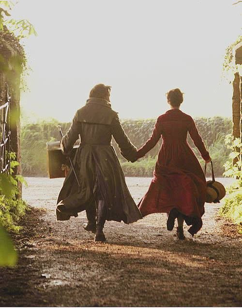 """Becoming Jane- Frightful-Elegance. """"Let's run away together."""" // OK, OK. Jane Austen spam done now, guys. Sorry."""