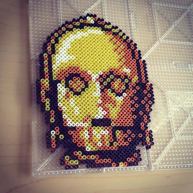 C3PO Star Wars hama perler beads by smargetts