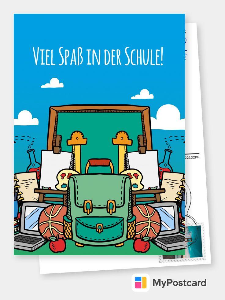 Viel Spaß in der Schule     Echte Postkarten online