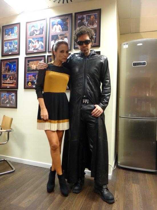 Paula Echevarría con botines de www.calzadospayma.com en El Hormiguero. 24/10/2012