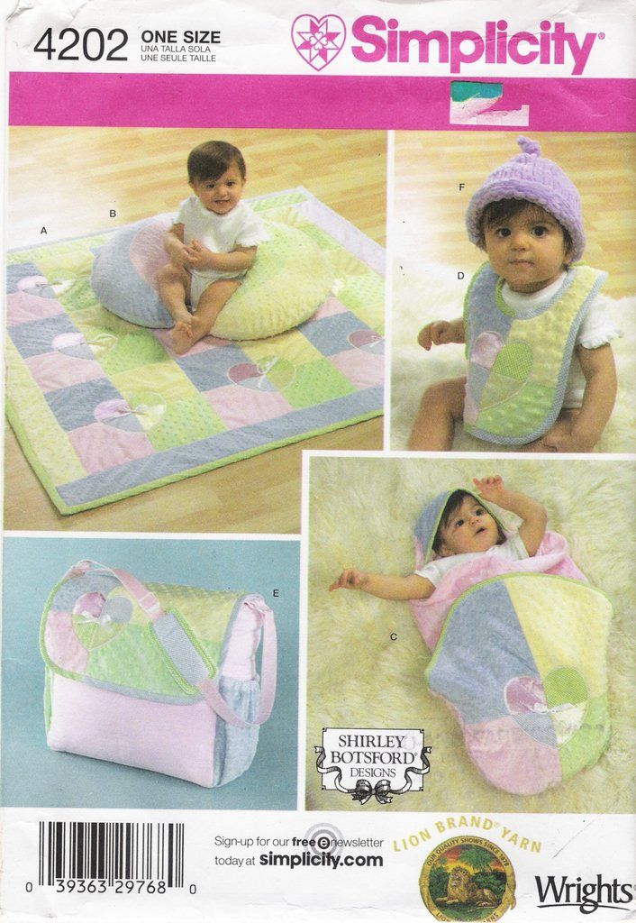 b4dd25bfd71c2 Simplicity 4202 Baby Accessiries | $5 or Less Sewing Patterns ...