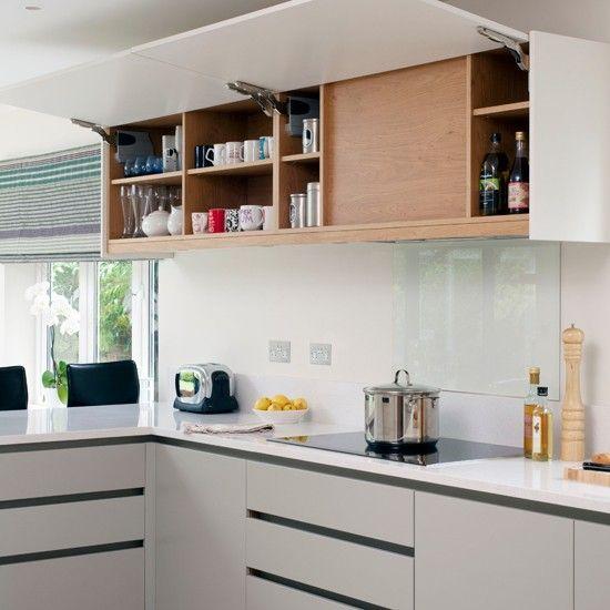 White modern kitchen wall cupboard | kitchen decorating