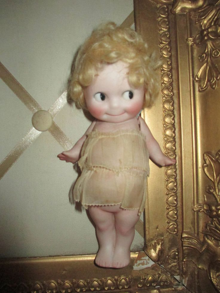 Antique German All Bisque Kewpie Doll Rose O Neill 7 In