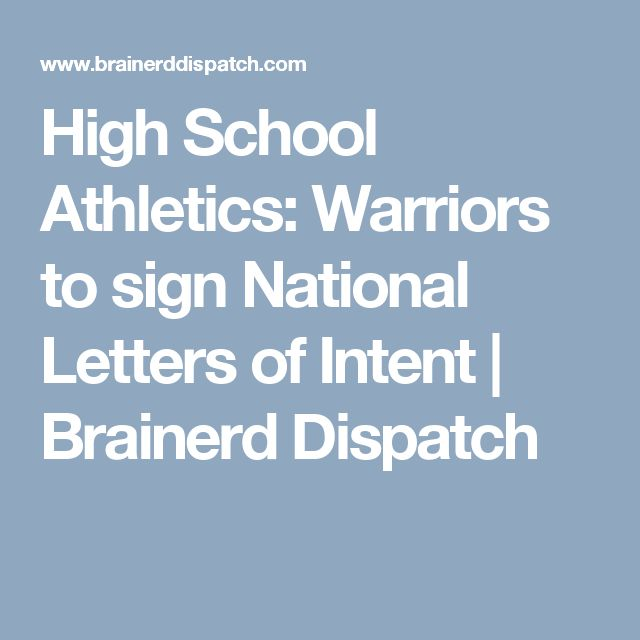 Warriors to sign National Letters of Intent MN Prep Football