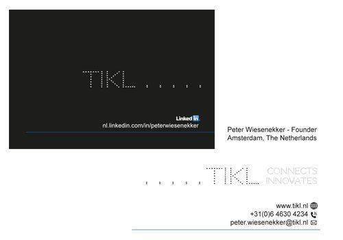 TIKL business name, business card design