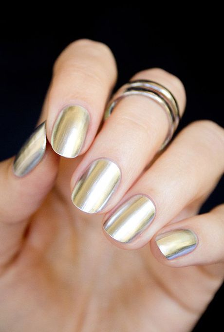 Best Metallic Nail Art And Manis For Nail Art Mariage Et Manucure