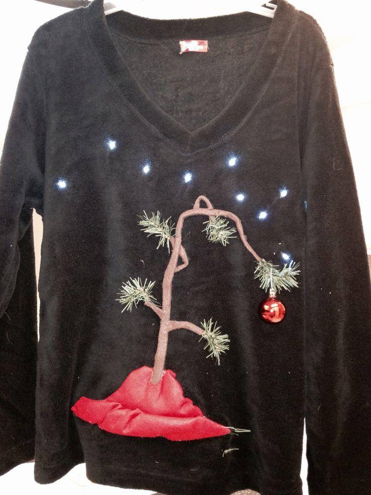 Charlie Brown Christmas Tree Ugly Christmas Sweater  Nicole Weekley Creations