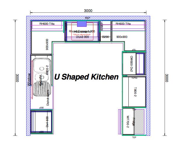 Image Result For 10x10 U Shaped Kitchen Layout Corner