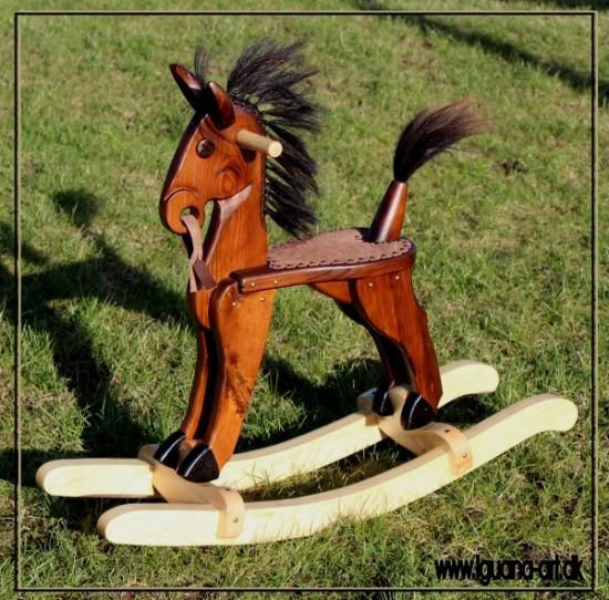 Art-Deco Rocking Horse. handmade