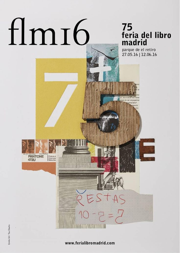 "Cartel de la ""flm16"": 75ª Feria del Libro de Madrid"