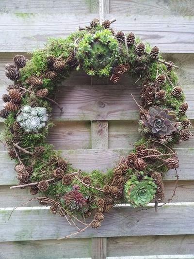 Bekijk de foto van turbomiba met als titel Herfst krans.  Mos, vetplanten,  en materiaal uit bos. Veel plezier en andere inspirerende plaatjes op Welke.nl.