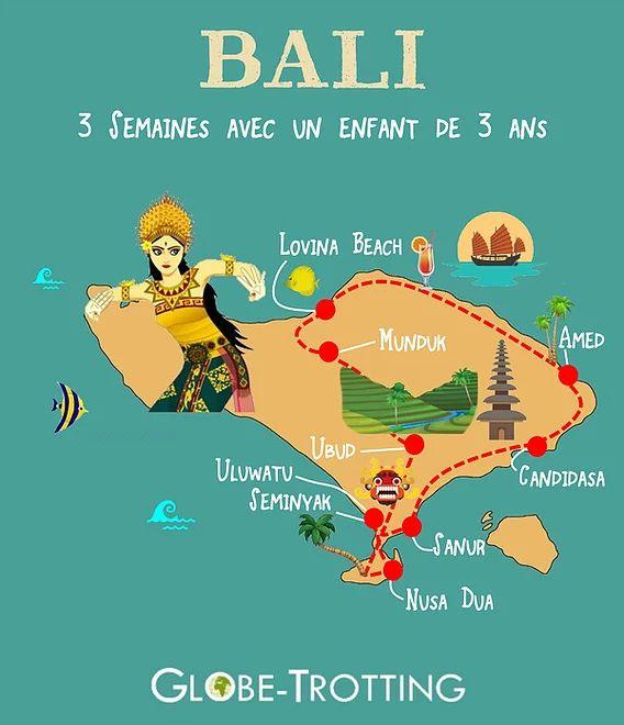 Itinéraire de voyage à Bali Voyager 3 semaines à Bali avec un enfant de 3 ans