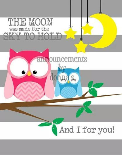 The Moon www.facebook.com/BirthAnnouncementssbyDonnaS