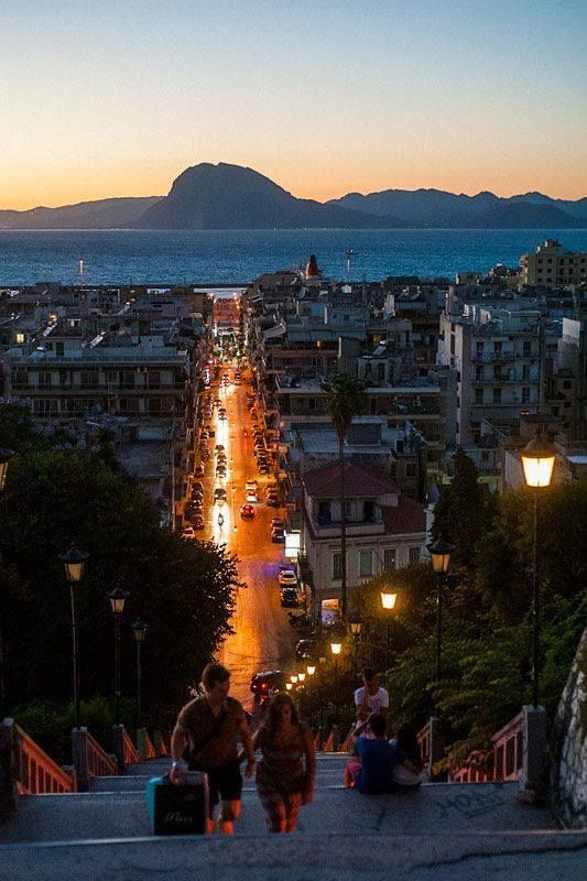Late evening in the Port city of Patras