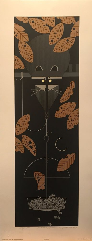 "Charley Harper ""Raccsnack"" Serigraph. In original envelope and in excellent condition. 