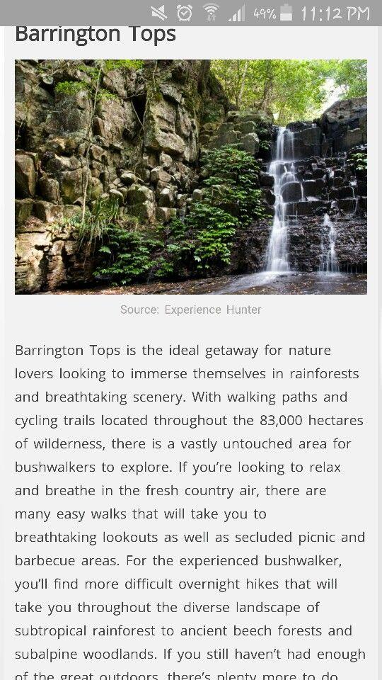 Mudgee. . Barrington Tops http://www.xploresydney.com/top-5-winter-getaways/
