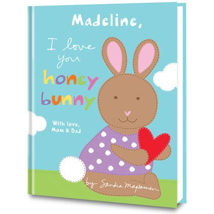 "I Love You, Honey Bunny Personalized Books for Kids   The perfect Easter treat to add to your little ""honey bunny's"" basket! I Love You, Honey Bunny by Sandra Magsamen is a fun and heartfelt story to remind your little one just how much you love and cherish them. Cuddle up close and enjoy something sweet together!  http://www.putmeinthestory.com/personalized-books/i-love-you-honey-bunny.html"