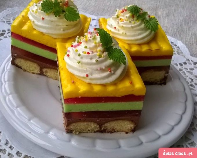 Ciasto kolorek - BEZ PIECZENIA