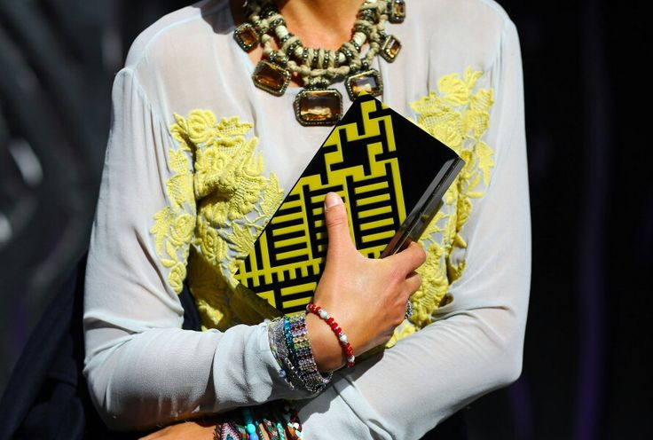 Necklace + clutch