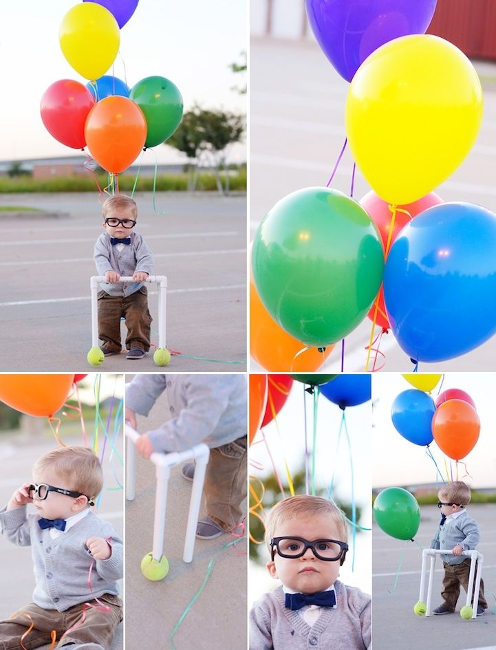 It's a three year old dressed as Carl from Up, the best Disney-Pixar film EVER (in my opinion). There are literally no words for this adorableness :) :)