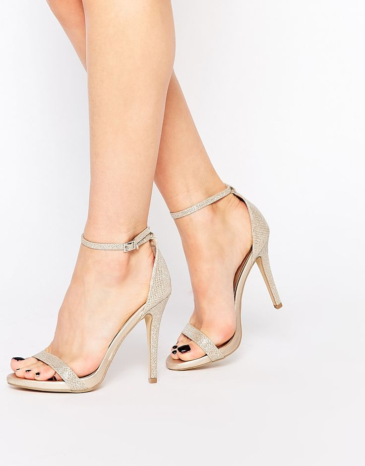 Image 1 of Call It Spring Qerinna Champagne Barely There Heeled Sandals