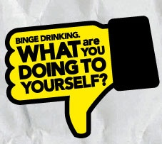 Binge drinking - what are you doing to yourself? campaign and website from NSW Health.
