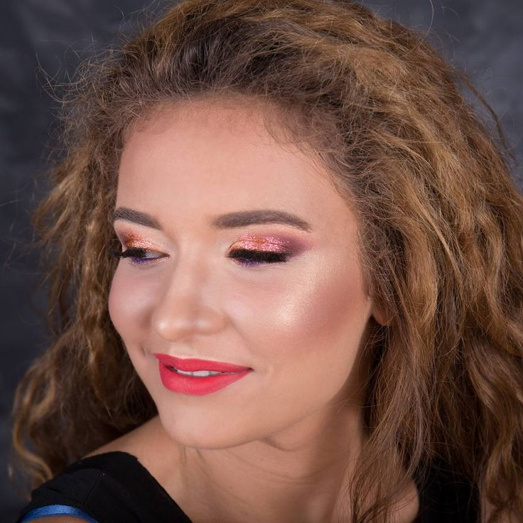 #spring #makeup #glitter