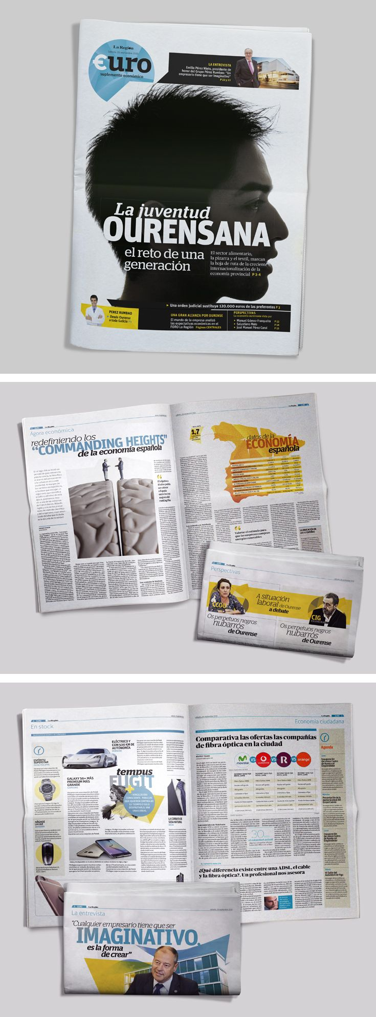 Suplemento económico para el periódico La Región