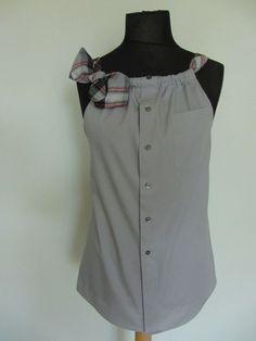 Upcycled Kleidung / Gray Freund Tank Top von GarageCoutureClothes