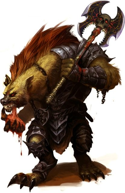 Un monstre mi loup mi hyène.
