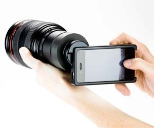 SLR and iPhone?: Iphone 4S, Slr Mount, Gadgets, Dslr Camera, Camera Lens, Iphone Camera, Iphone Slr, Photography, Iphoneslr